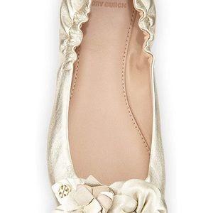 New Tory Burch Blossom Ballet Flats Size 10.5